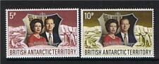 Dell' Antartico britannico 1972 Nozze d'argento SG 42/43 MNH