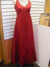 """DAVID'S BRIDAL""-BRIDESMAID-PROM-HOMECOMING HALTER STYLE DRESS-SZ-10-**RED**"