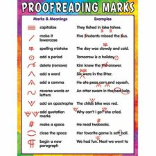 Proofreading Marks Chart Teacher Created Resources Tcr7696