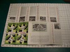 VINTAGE  brochure: 1954 ILE DE FRANDE w Map cover art by E. LANCASTER so cool