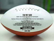To Son From Dad American Football Nfl Fans Gift Birthday Graduation Christmas