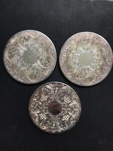 Vintage Silver Plated Drinks Coasters