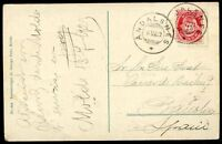 NORWAY - MOLDE, ANDALSNES Cancel on Circulated Postcard to SPAIN, 1920, VF