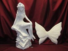 Ceramic Bisque Large Fairy Ready to Paint U-Paint Fantasy Mystical Gare