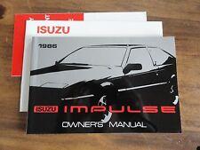 1986 Isuzu Impulse Owners Manual