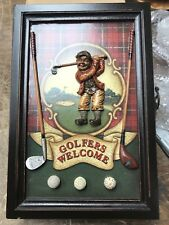 Golfers Wecome Wood Wall Box Key Holder NEW