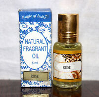 Magic Of India ROSE Natural Fragrant Oil in Roll on Bottle,Made in India (2x5ml)