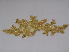 Ornato di lustrini oro pizzo floreale Applique Bridal Wedding ornato di lustrini motivo decorativo in pizzo venduti da PC