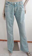 Nwt Paper Denim & Cloth Super  Low Rise 5 Flare Mod Jeans sz 30 10 Light Wash