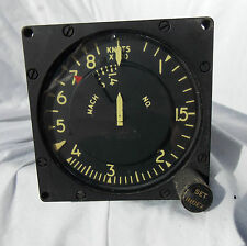 USAF  F-104  & SR-71 Look Alike Type MACH Airspeed Indicator Gauge Instrument