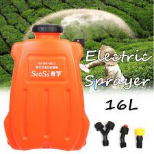 16L 12V Electric Pressure Sprayer Battery Rechargeable Garden Chemical Killer