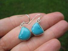925 silver natural Tibetan stone turquoise earrings earring Nepal jewelry art