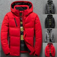 Männer Winter Ente Daunenjacke Ski Mantel Schnee Kapuze Puffer CoatParka Outwear