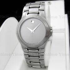 Men's Movado MEZA Silver Dial Stainless Steel Swiss Quartz Watch 0604833