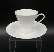Rosenthal CLASSIC MODERN WHITE Footed Cup & Saucer EXCELLENT
