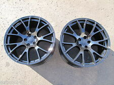 "22"" FACTORY STYLE DODGE CHARGER SRT HELLCAT 22x11 GLOSS BLACK TWO WHEELS RIMS"