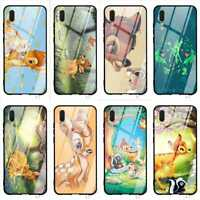 Cute Deer Glass Case Cover for Huawei P20 Pro 7A Y6 Honor 9 P10 Lite Mate 20 Pro