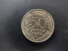 PIECE MONNAIE FRANCE 50 Centimes MARIANNE 1963 trés bon état