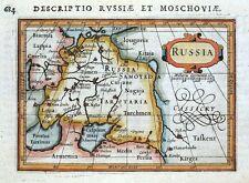 RUSSIA, P.BERTIUS original antique hand coloured miniature map 1618