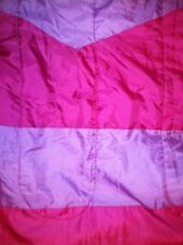 Girl's purple hot pink sleeping bag sleep-overs nylon zip shut approx. 2x5' used