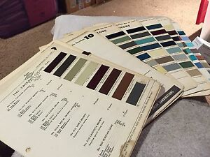 PACKARD PAINT CHIPS SET 1942-1957 VERY RARE PARTS