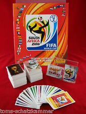 Panini WM 2010 Satz komplett + 80 Update Sticker + Album intern. Leeralbum WC 10
