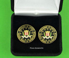 FBI Cuff Links in Presentation Gift Box - Federal Bureau of Investigation