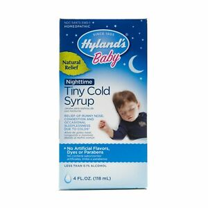 Hyland's Baby Nighttime Cold Syrup, Natural Relief 4 Ounces