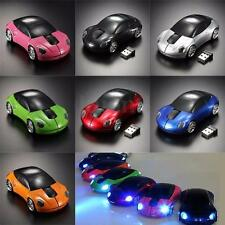 3D Wireless Optical Car Shaped Mouse Mice 1600DPI +USB Receiver For Laptop