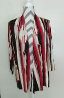 Easywear by Chico's Travelers 1646 Womens Stretchy Top Open Front Sz 2(L)