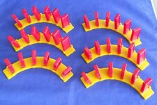 Domino Rally Expansion Replacement Piece Part 6 Pivot Curved Tracks Yellow & Red