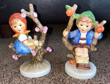 Goebel Hummel Apple Tree Girl and Boy 141 3/0 142 3/0 Figures Figurines Germany