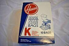 NEW 9 GENUINE HOOVER VACCUUM CLEANER BAGS TYPE K