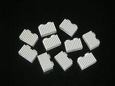 Lego 10 briques rainures blanches Neuves White brick w/ grill NEW REF 2877