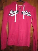Aeropostale Hoodie Girls Size XS Pink Zippered Front