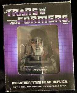 Transformers 2006 Diamond Select Mini Head Replica Megatron G1 MIB 90 of 2500