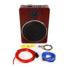 600W Under-Seat Car Subwoofer Powered Bass Amplifier Slim Enclosure Sub