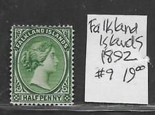 Falkland Islands #9 Stamp from Quality Old Antique Album 1892