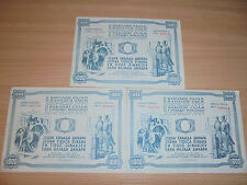 3 x 1000 DINARA YUGOSLAVIA 1950 - II. NATIONAL LOAN - EXTREMELY RARE (K-2)