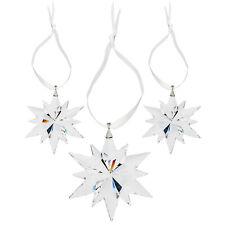 Swarovski cristal claro de Copo de Nieve Navidad Ornamento Estrella Set
