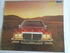 Ford USA LTD range brochure 1979 Canadian market