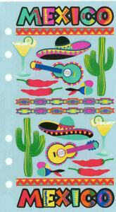 Mexico Travel Stickers Set - Sombreros,Margaritas,Cacti,Chilies,Guitars,Maracas