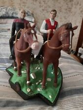 More details for vintage rare star trek generations collectible figurine  captains on horses bnib