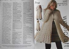 Ladies Knitting Pattern Aran - Jarol 1040