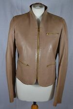 JOSEPH caramel brown leather jacket size 10/12