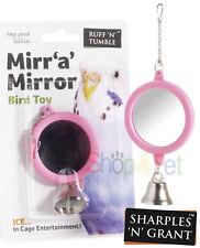 Mirr 'a' miroir oiseau cage jouet avec bell, perruche, perroquet, cockatiel etc