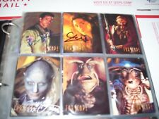 Farscape Season  promo card  set -numbered  775/1999 some signed