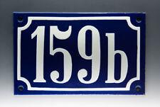 EMAILLE, EMAIL-HAUSNUMMER 159b in BLAU/WEISS um 1955
