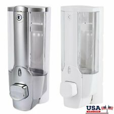 Soap Dispenser Wall Mounted Bathroom Shower Manual Kitchen Commercial 350ml US