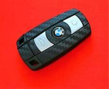 Black Carbon Fiber Key Decor for BMW Interior Decal Sticker Coating Fob Wrap